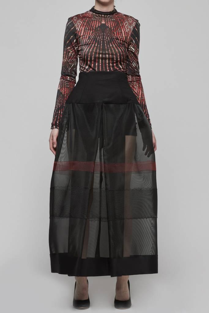 Horsehair High Waisted Skirt-1