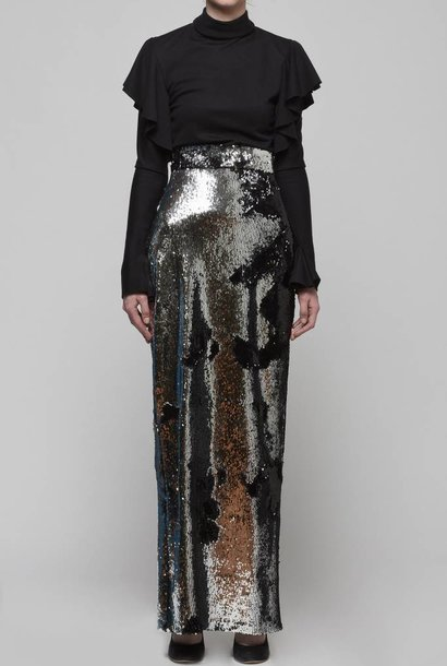 Flip Sequin Maxi Skirt