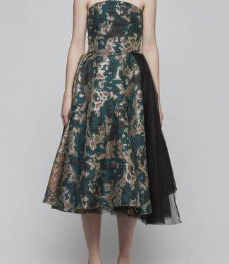 Brocade Strapless Dress