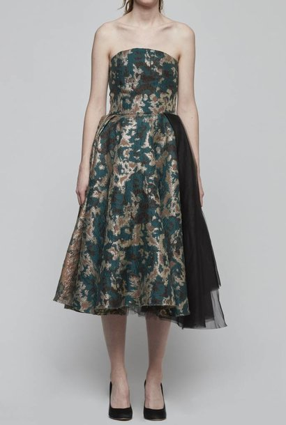 Brocade Strapless Dress