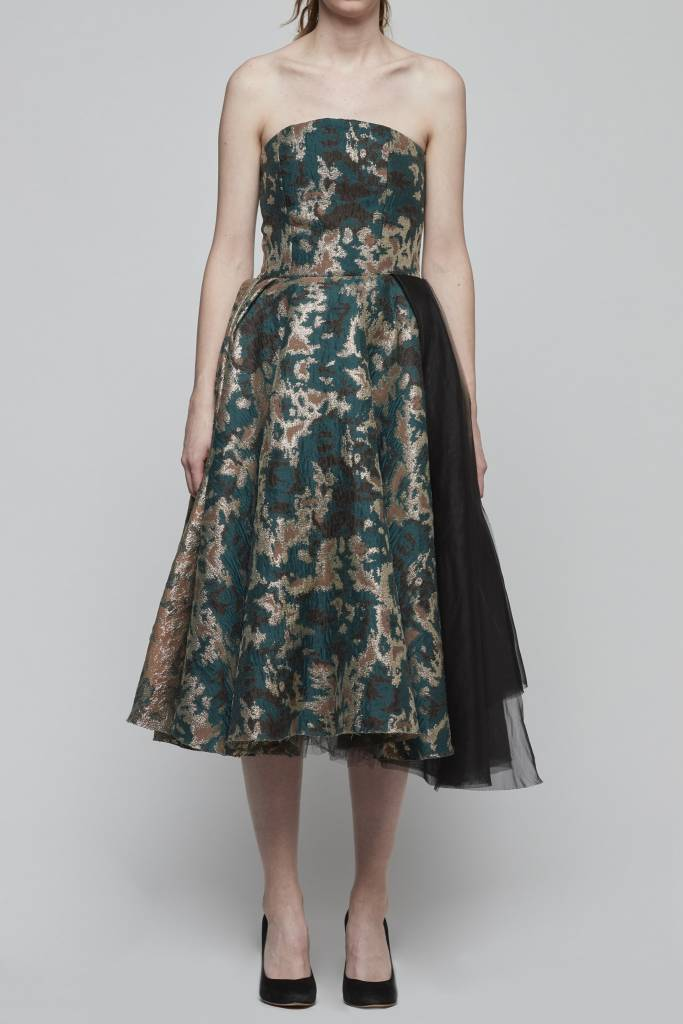 Brocade Strapless Dress-1
