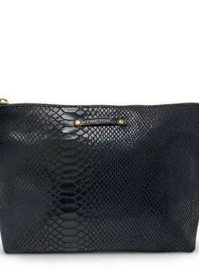 Kempton & Co Snakeskin Canvas Pouch