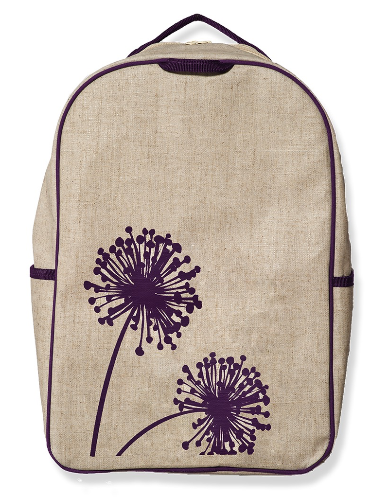 SoYoung PURPLE DANDELION GRADE SCHOOL BACKPACK
