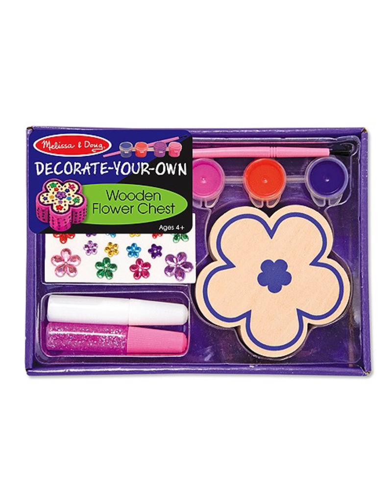 Melissa & Doug WOODEN FLOWER CHEST