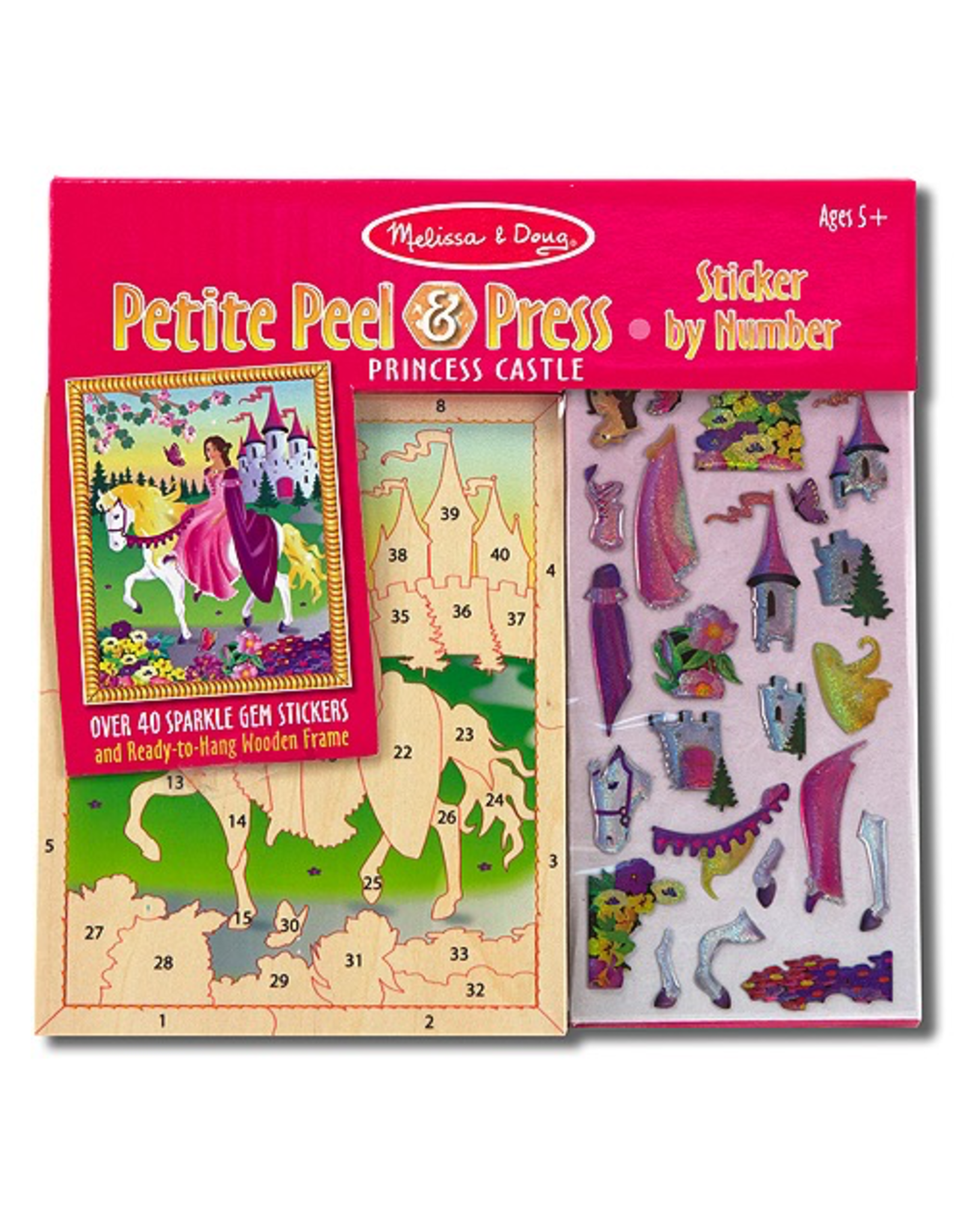Melissa & Doug MINI PRINCESS CASTLE PEEL  PRESS