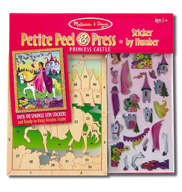 Melissa & Doug Princess Castle Petite Peel & Press Sticker By Numbers