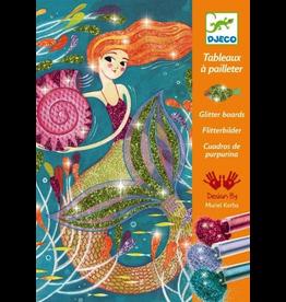 Djeco Djeco Art Kit - Glitter Board Mermaids