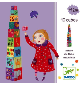 Djeco NATURE & ANIMAL STACKING CUBES