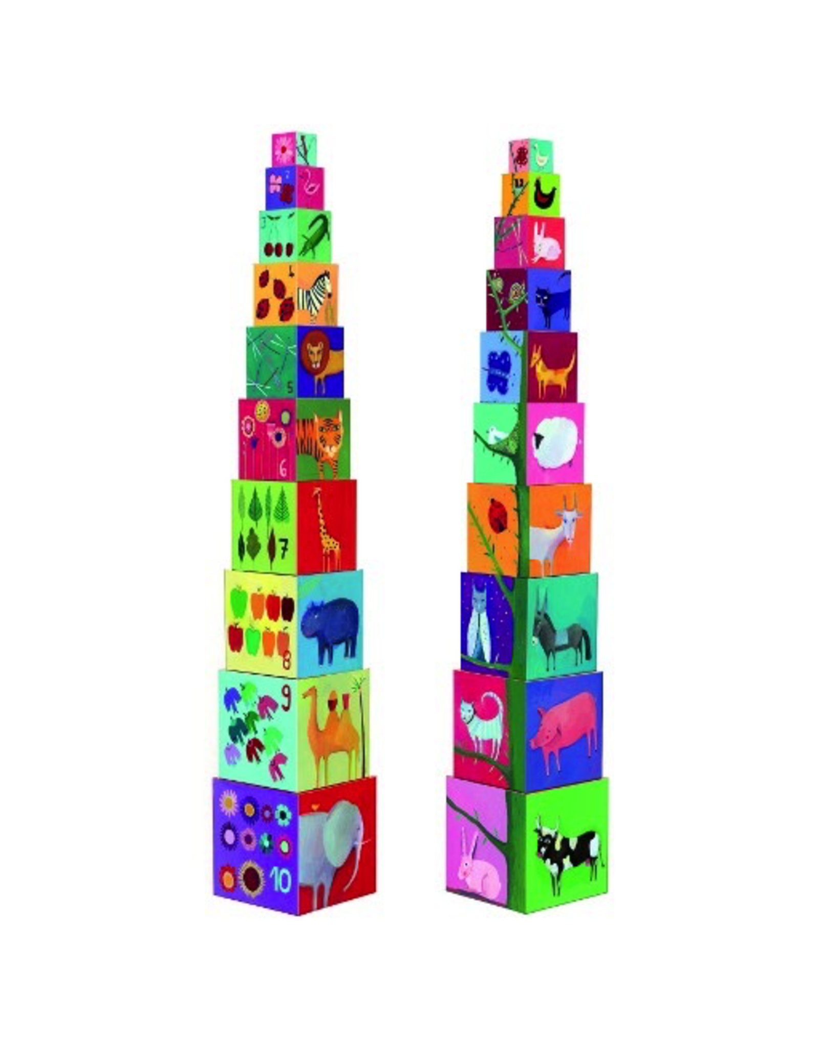 Djeco STACKING CUBES - NATURE