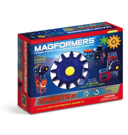 Magformers MAGFORMERS MAGNETS IN MOTION 22PC POWER GEAR SET