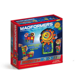 Magformers MAGFORMERS MAGNETS IN MOTION 37PC GEAR SET