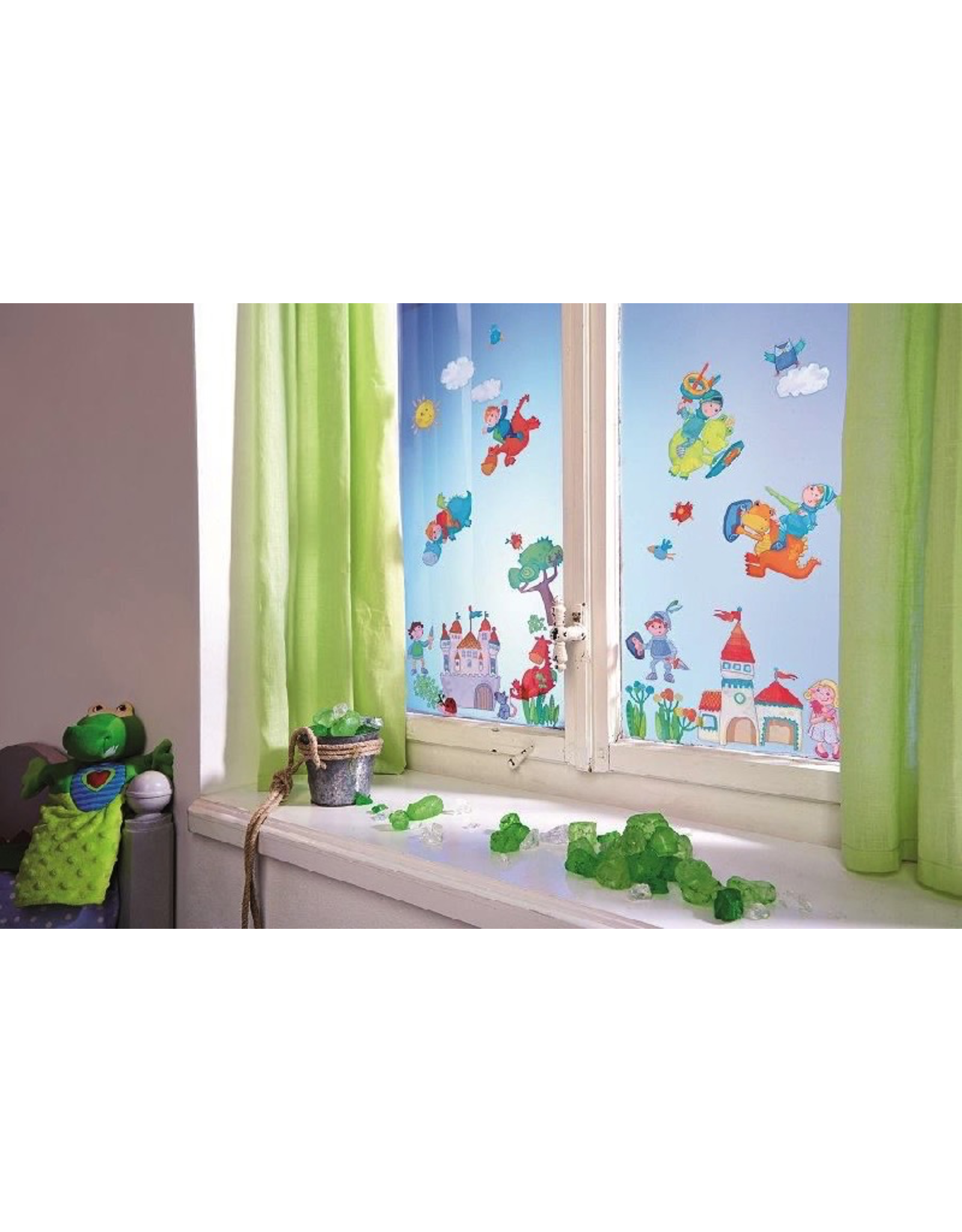 HABA WINDOW STICKERS DRAGON KNIGHTS