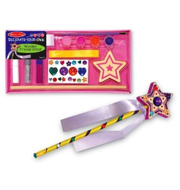 Melissa & Doug Decorate-Your-Own Wooden Princess Wand