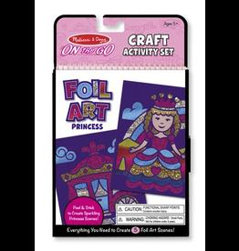 Melissa & Doug On-the-Go Crafts - Foil Art Princesses