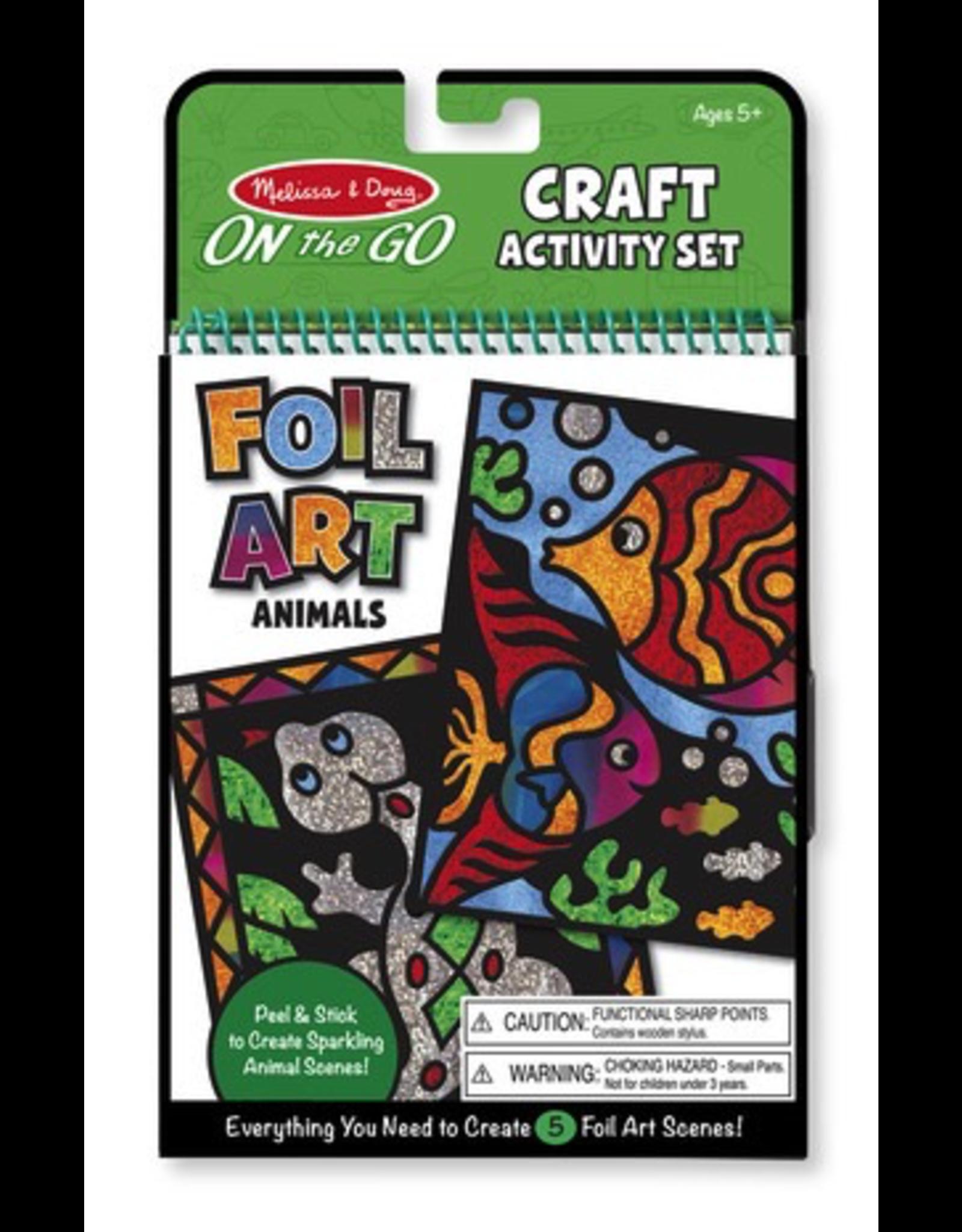 Melissa & Doug ON THE GO FOIL ART ANIMALS