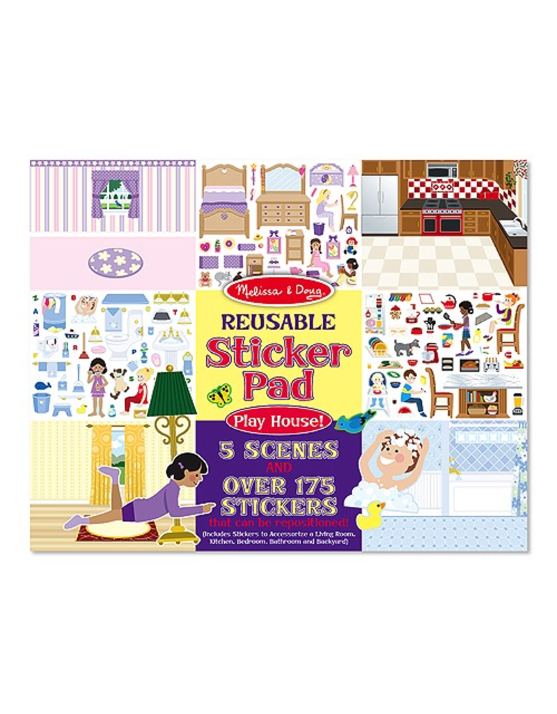 Melissa & Doug REUSEABLE STICKER PAD - PLAY HOUSE