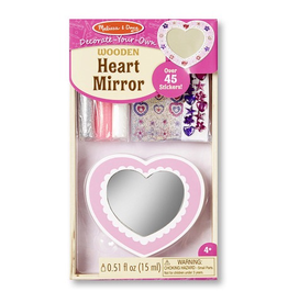 Melissa & Doug Decorate-Your-Own Wooden Heart Mirror