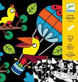 Djeco Birdz Velvet Colouring by Djeco
