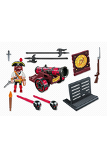 Playmobil 6163 RED INTERACTIVE CANNON WITH BUCCANEER