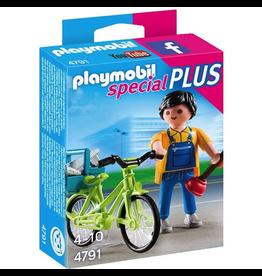 Playmobil Handyman with Bike