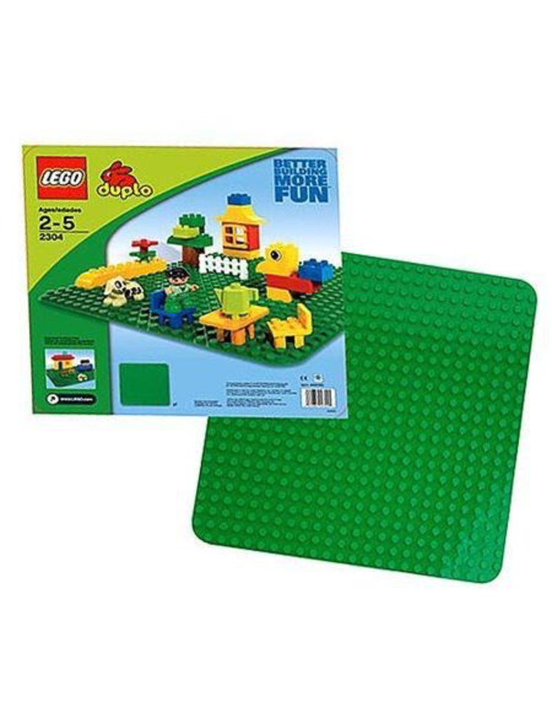 LEGO DUPLO 2304 LARGE GREEN BUILDING PLATE