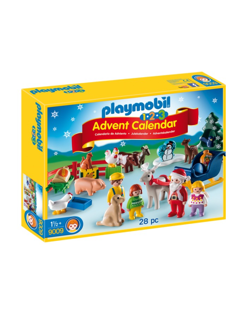 Playmobil PLAYMOBIL - 9009  1.2.3 ADVENT CALENDAR CHRISTMAS ON THE FARM