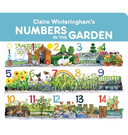 Pomegranate CLAIRE WINTERINGHAM'S NUMBERS IN THE GARDEN BOARD BOOK