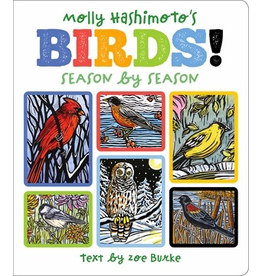 Pomegranate MOLLY HASHIMOTO'S BIRDS! SEASON BY SEASON BOARD BOOK
