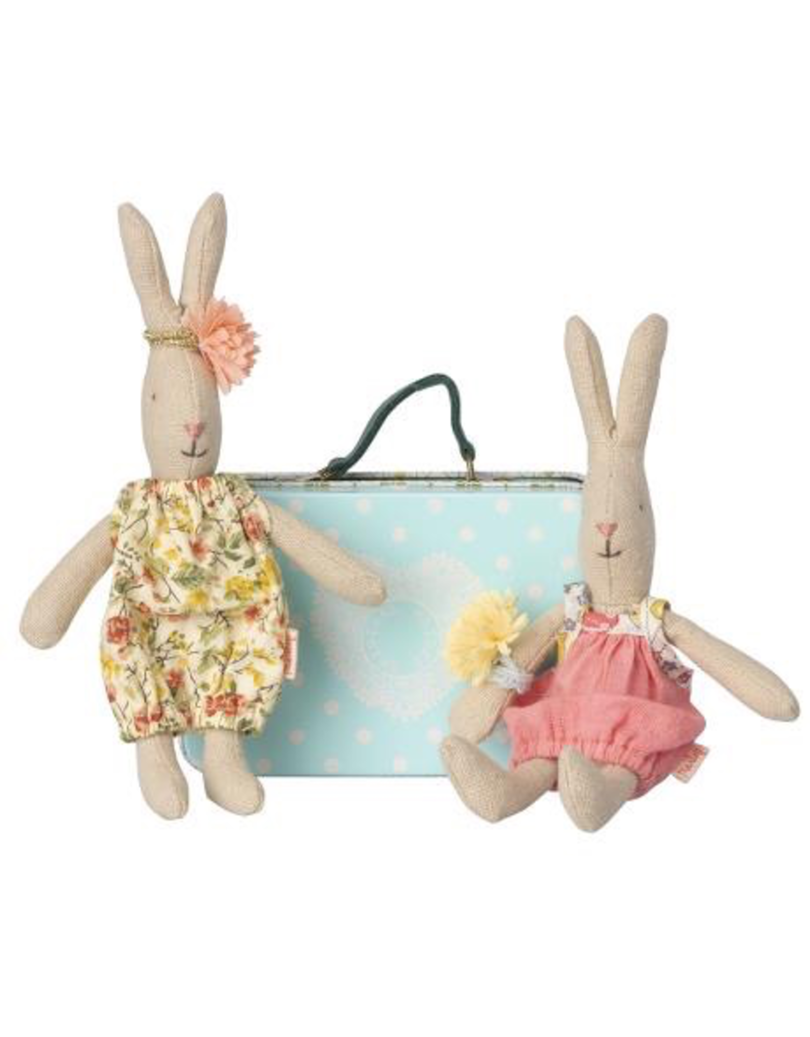 Maileg MICRO RABBIT WITH SUITCASE & 2 SETS OF CLOTHES