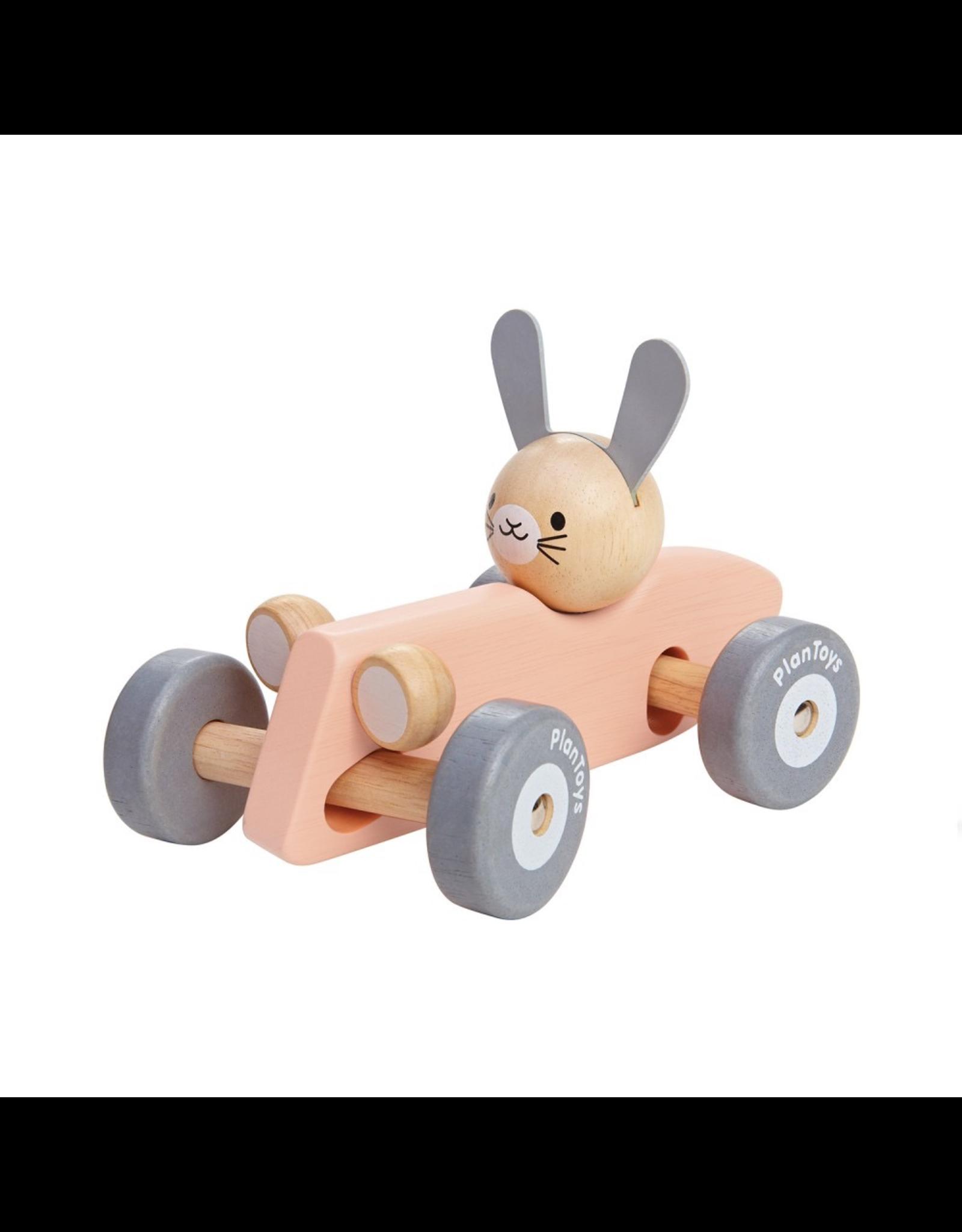Plan Toys PLAN TOY - BUNNY RACING CAR