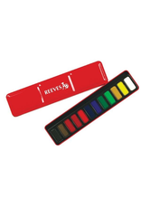Reeves SET OF 12 WATER COLOUR PAINTS IN RED METAL TIN
