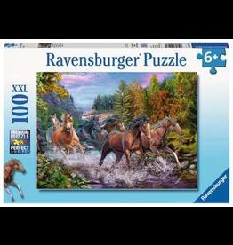 Ravensburger RAVENSBURGER - RUSHING RIVER HORSES (100 PC)