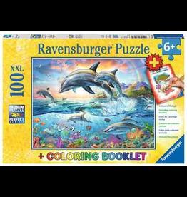 Ravensburger RAVENSBURGER - VIBRANT DOLPHINS  (100 PC)