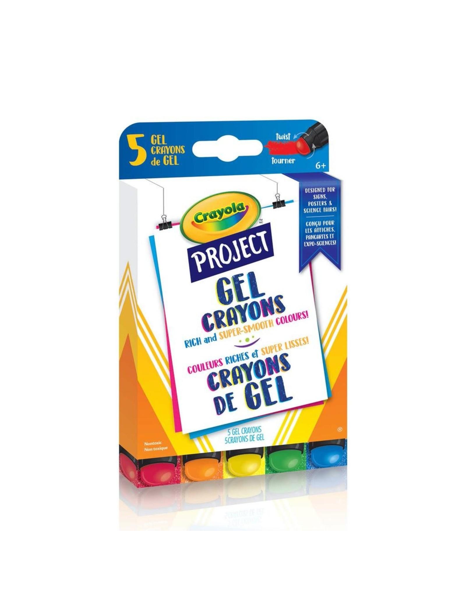 Crayola CRAYOLA PROJECT GEL CRAYONS, 5 COUNT