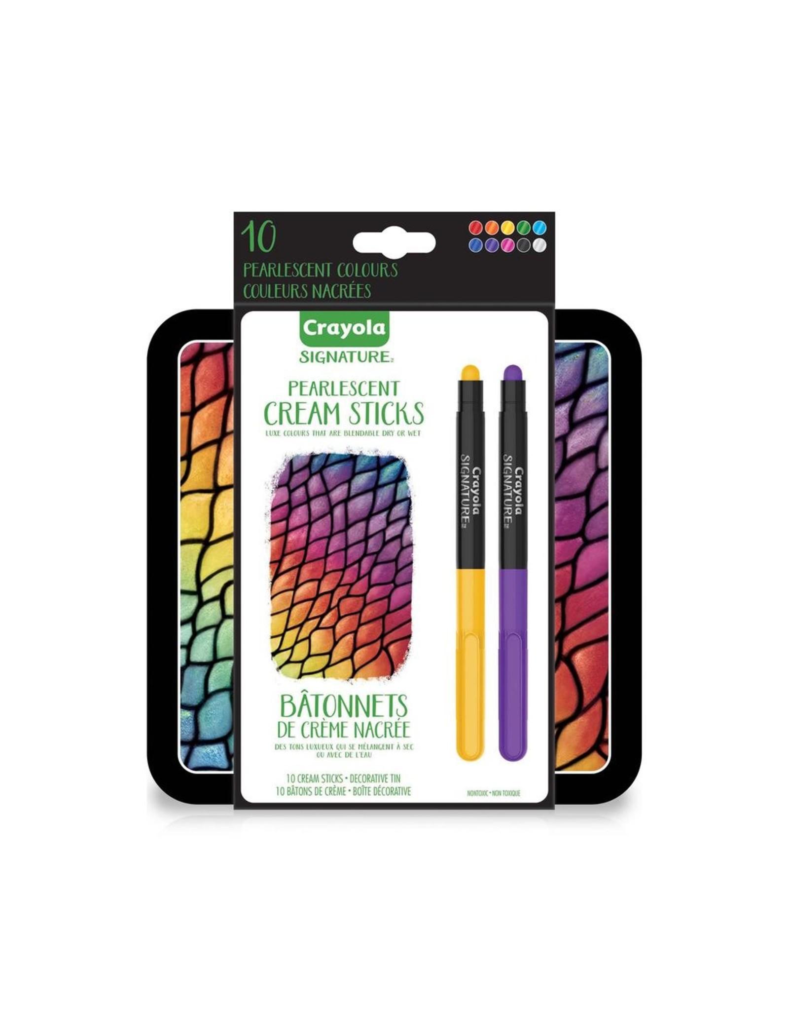 Crayola SIGNATURE 10CT PEARLESCENT CREAM STICKS