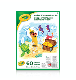Crayola MARKER AND WATERCOLOUR PAD