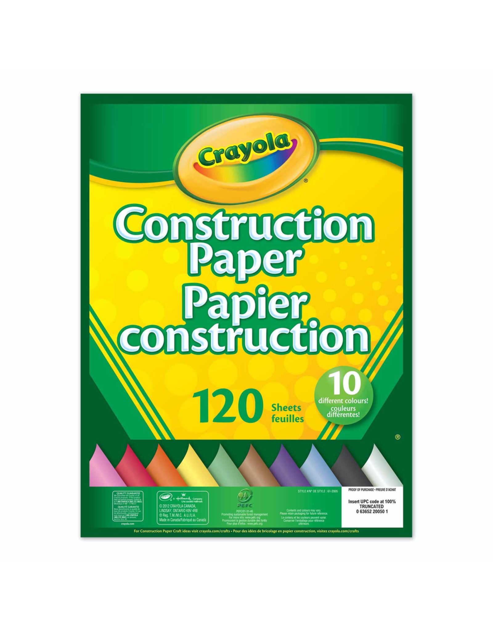 Crayola 120 CT CONSTRUCTION PAPER PAD