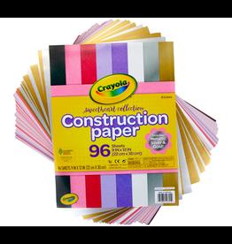 Crayola 96 CT CONST PAPER W METALLIC SHEETS