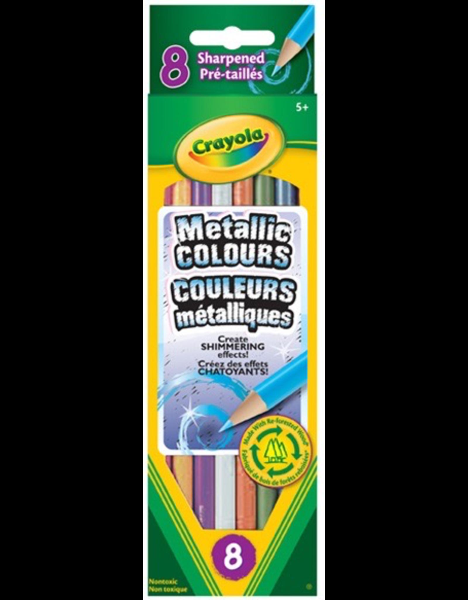 Crayola 8 METALLIC COLOURED PENCILS