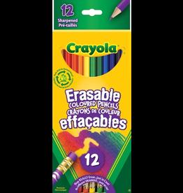 Crayola 12 ERASABLE COLOURED PENCILS