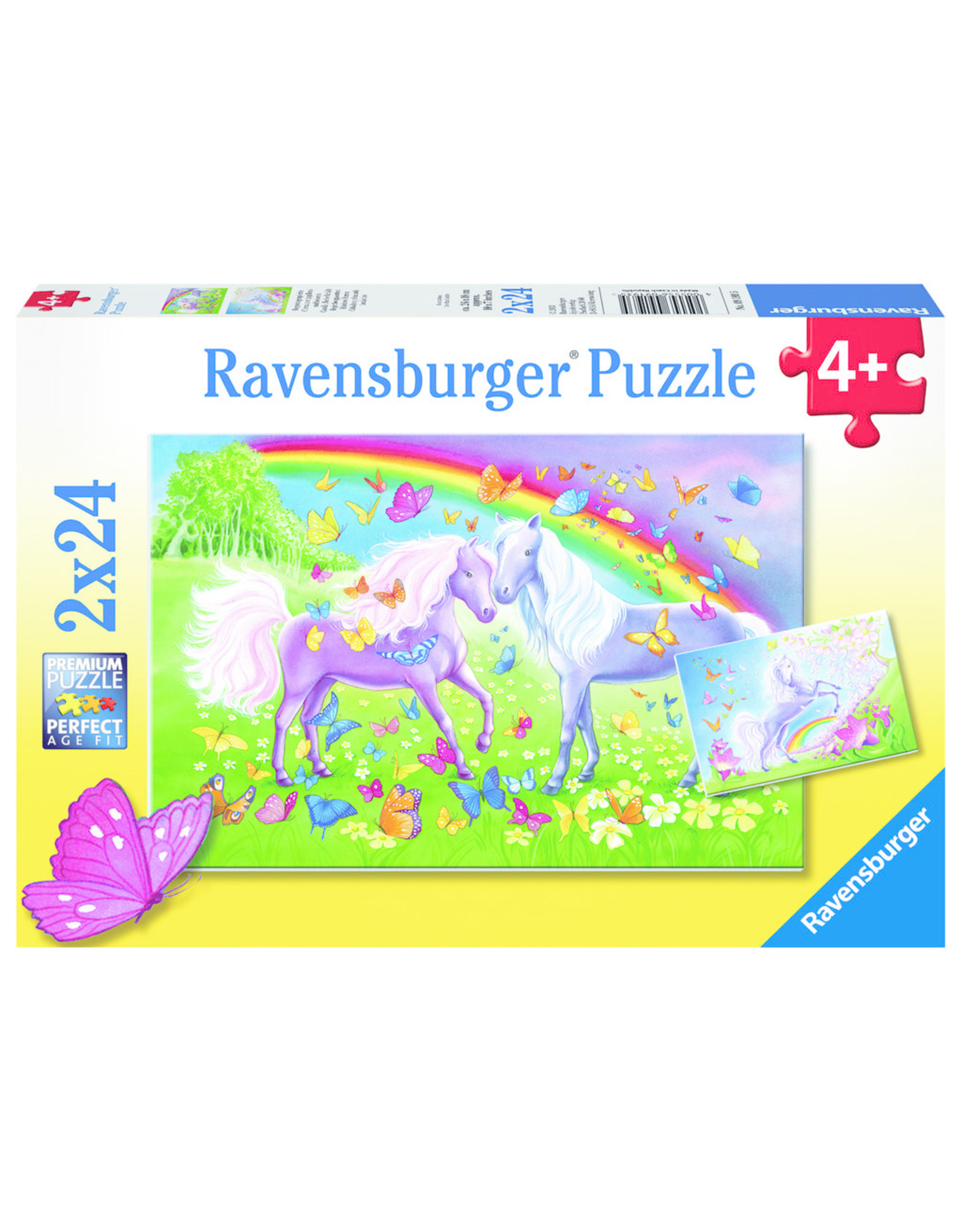 Ravensburger RAVENSBURGER - RAINBOW HORSES (2 X 24 PC)