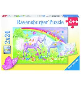 Ravensburger RAVENSBURGER - RAINBOW HORSES (2 X 24 PC)