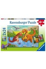 Ravensburger RAVENSBURGER - DINOSAURS AT PLAY (2 X 24 PC)