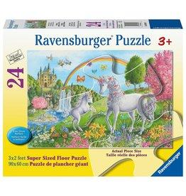 Ravensburger PRANCING UNICORNS 24 PCS FLOOR PUZZLE