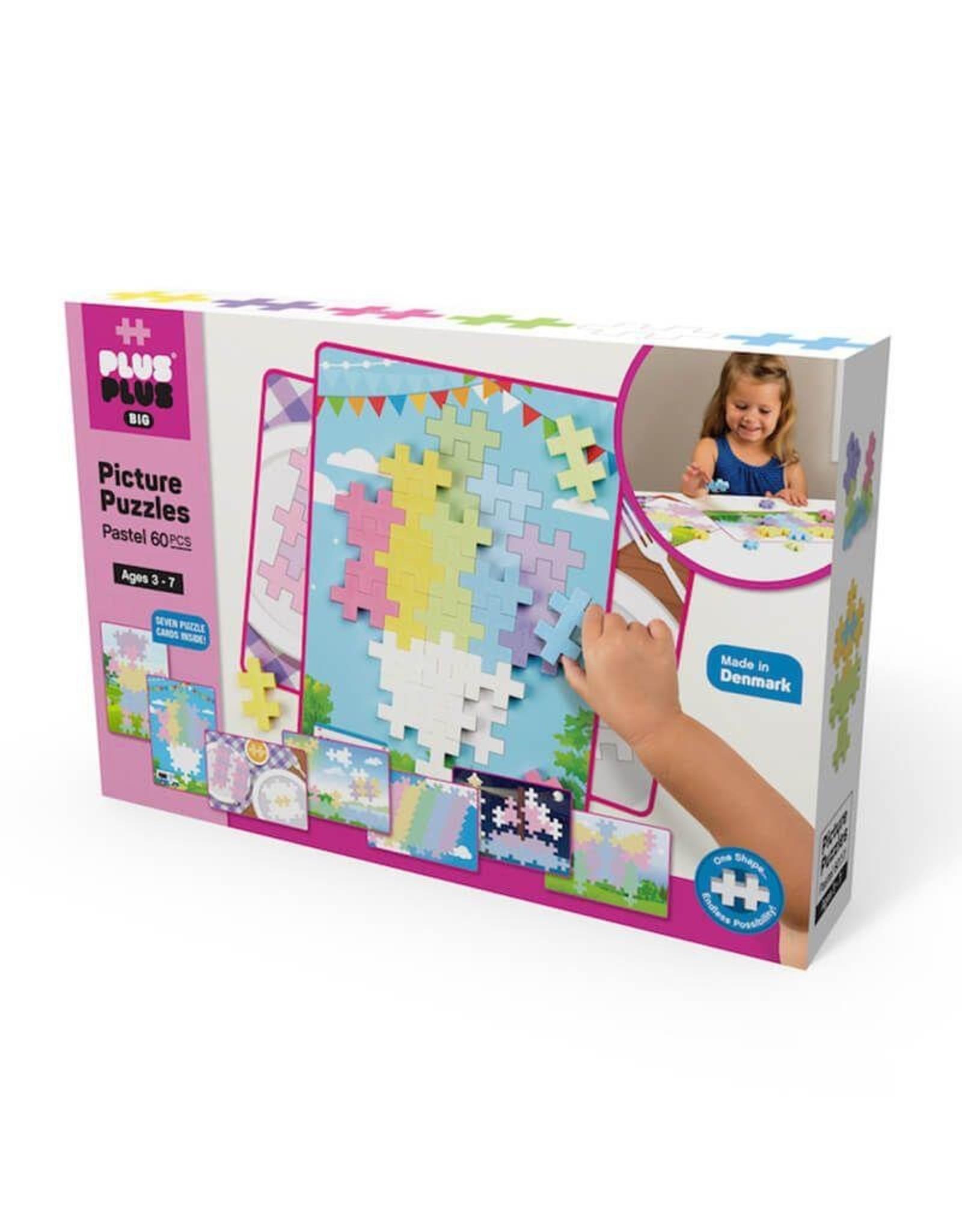Plus-Plus PLUS PLUS BIG PICTURE PUZZLES PASTELS 60 PCS