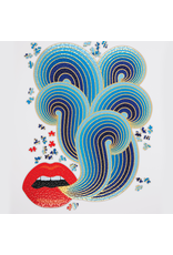 Galison Jonathan Adler 750 Piece Lips Shaped Puzzle
