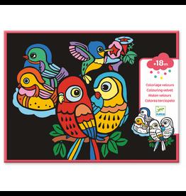 Djeco COLOURING VELVET  BABY BIRDS