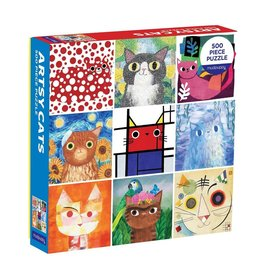Galison Artsy Cats 500PC Family Puzzle