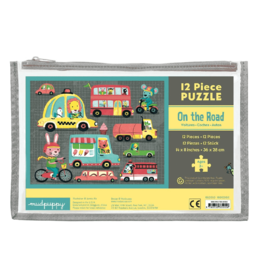 Mudpuppy On the Road Pouch Puzzle: Pouch Puzzle