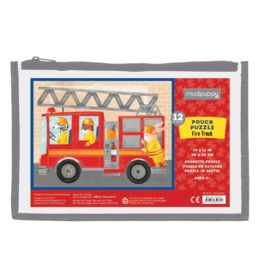 Mudpuppy Fire Truck Pouch Puzzle